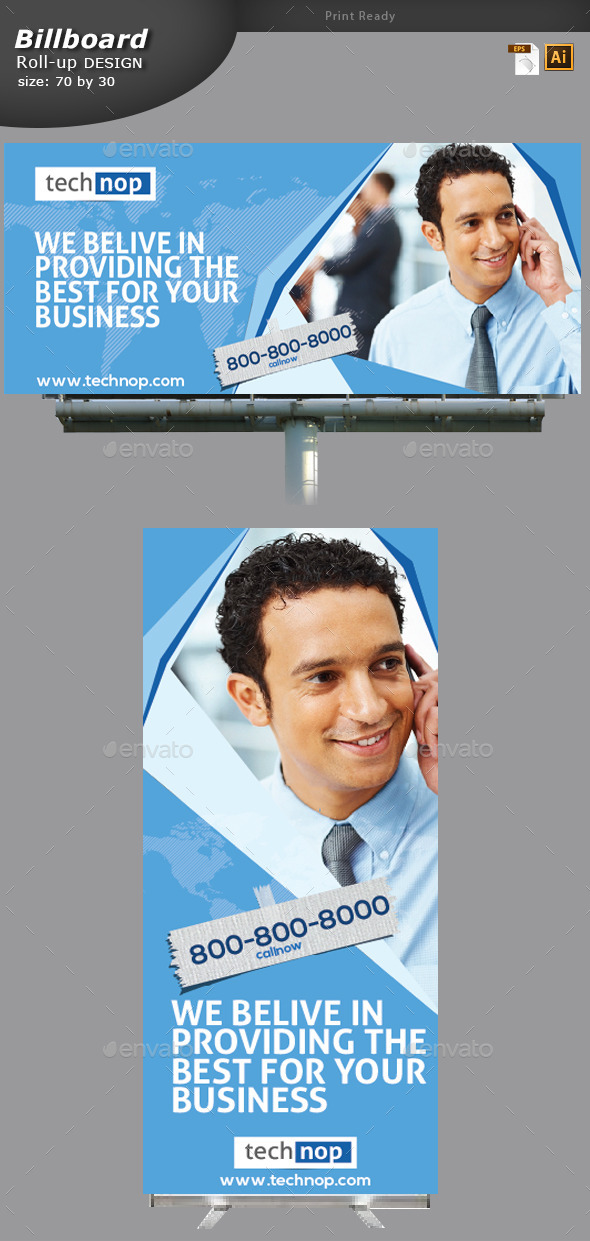 Business Billboard and Rollup Banner  - Signage Print Templates