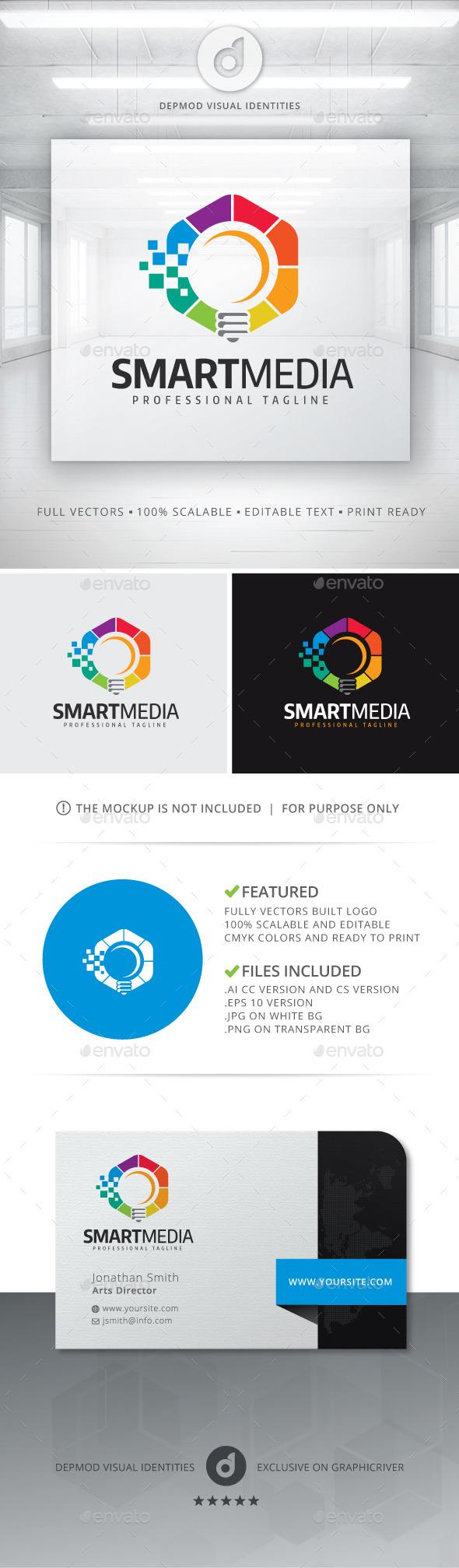 Smart Media Logo - Symbols Logo Templates