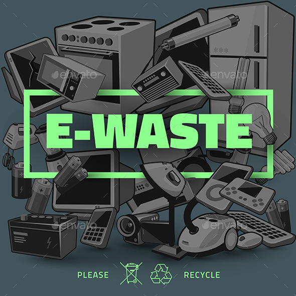 Dark E-waste with Green Title - Miscellaneous Characters