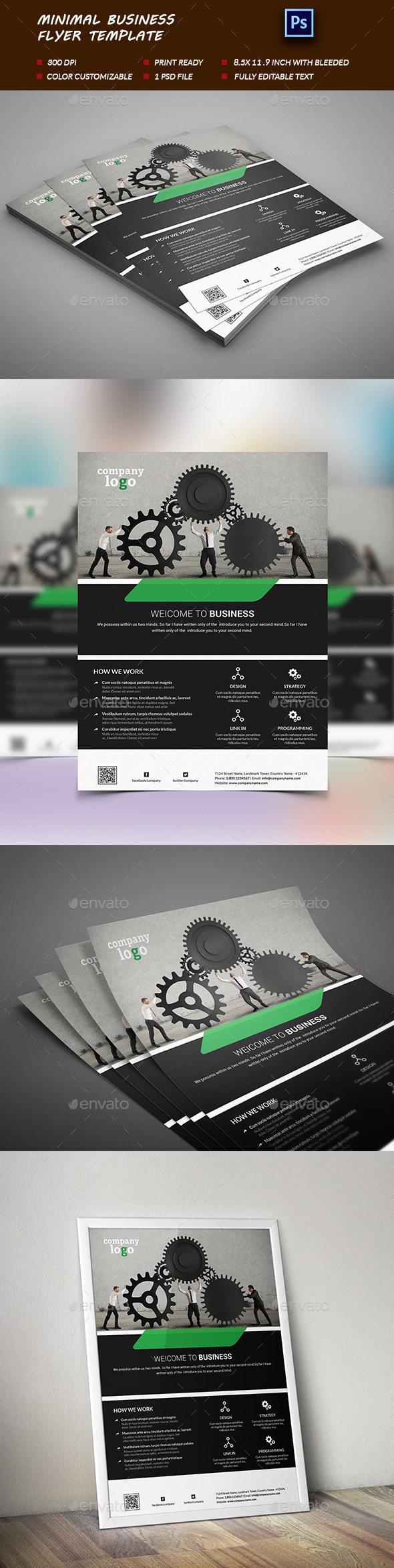 Minimal Business Flyer Template-V0l:01 - Corporate Flyers