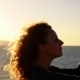 Happy Woman Using Phone Camera Sailing Ship at Sunset - VideoHive Item for Sale