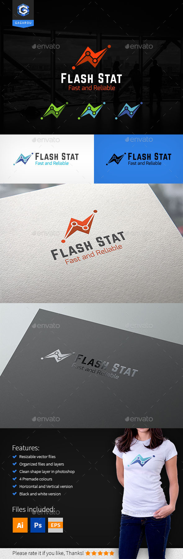 Flash Stat Logo - Logo Templates