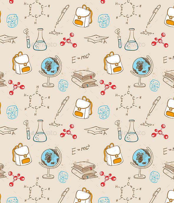 School Seamless Pattern - Patterns Decorative