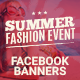 Facebook Banners - Summer Fashion Event - GraphicRiver Item for Sale