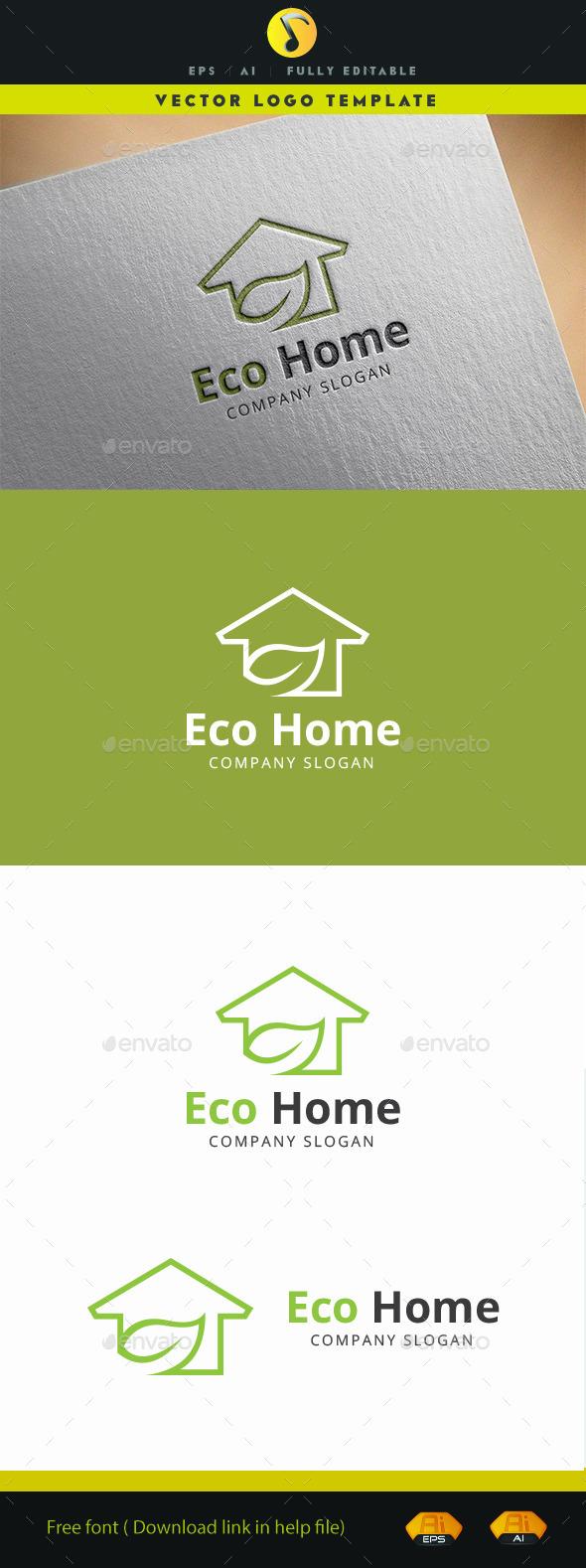 Eco Home - Buildings Logo Templates