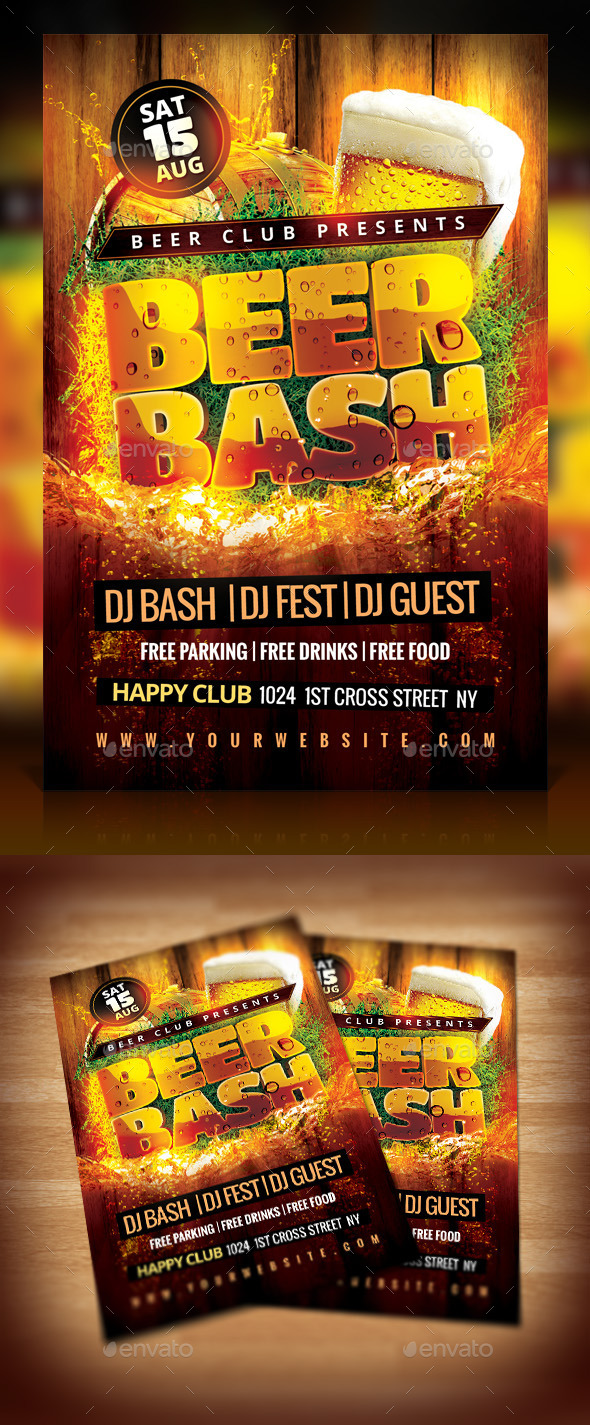 Beer Bash Flyer - Events Flyers