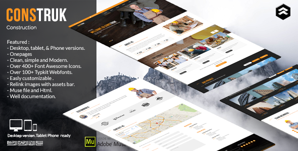Construk – Construction Business Muse Template