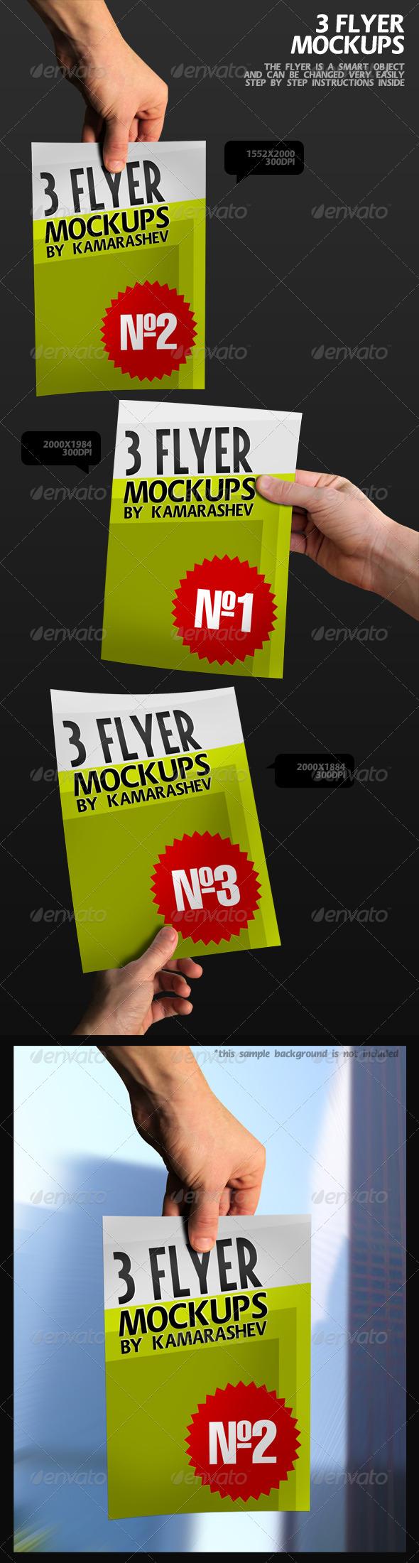 3 Flyer Mockups - Flyers Print