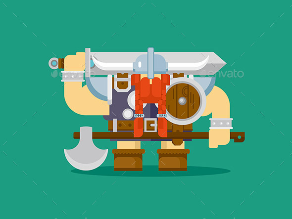 Isolated Viking Character - People Characters