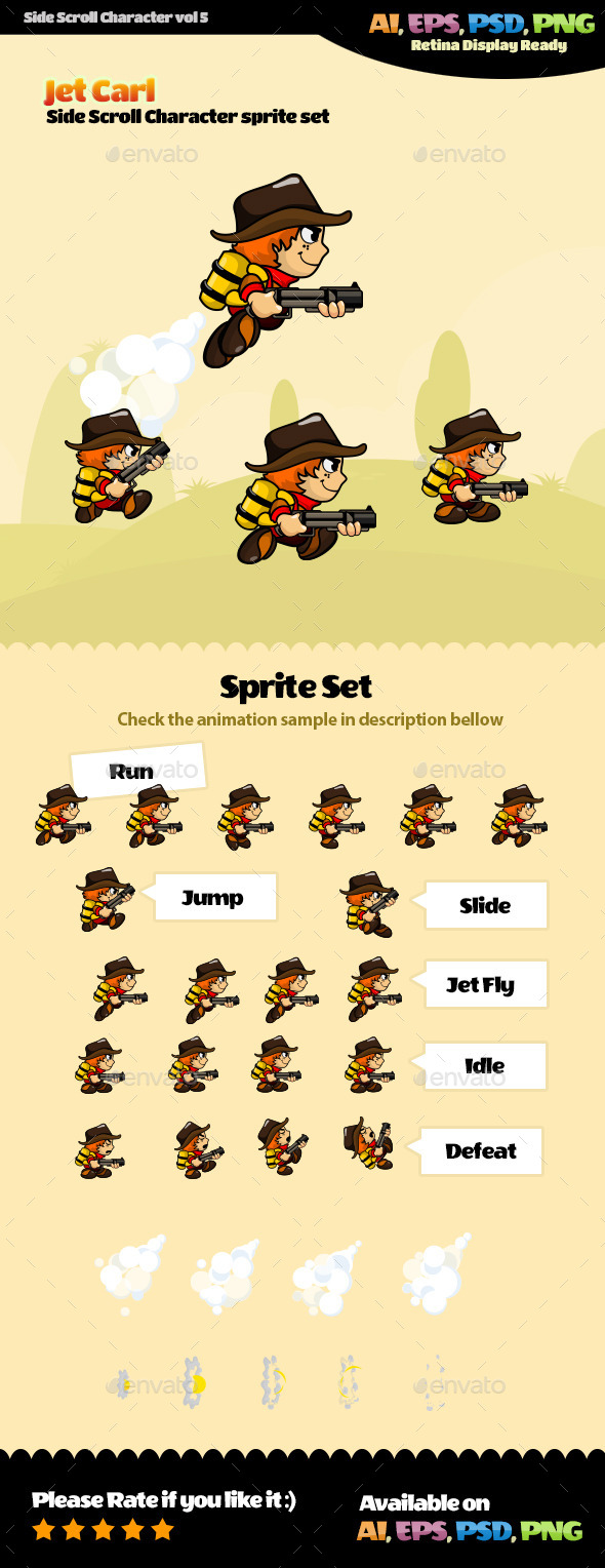 Side Scroll Character Vol 5 - Sprites Game Assets