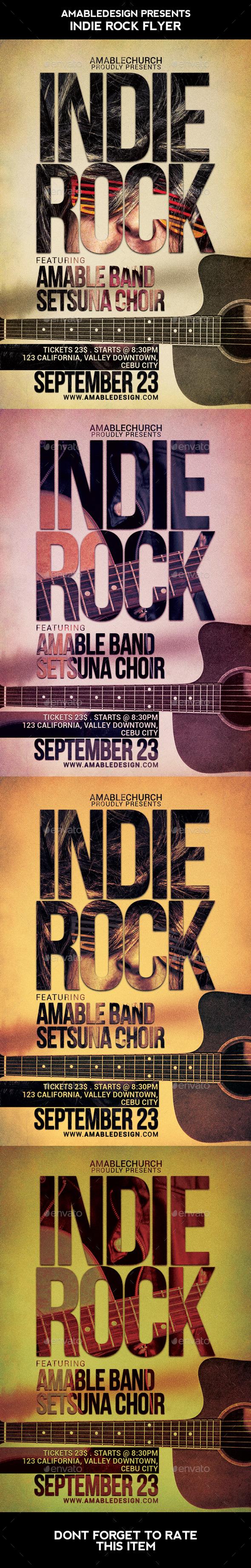 Indie Rock Flyer - Concerts Events