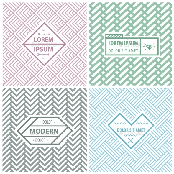 Templates for Labels - Patterns Decorative