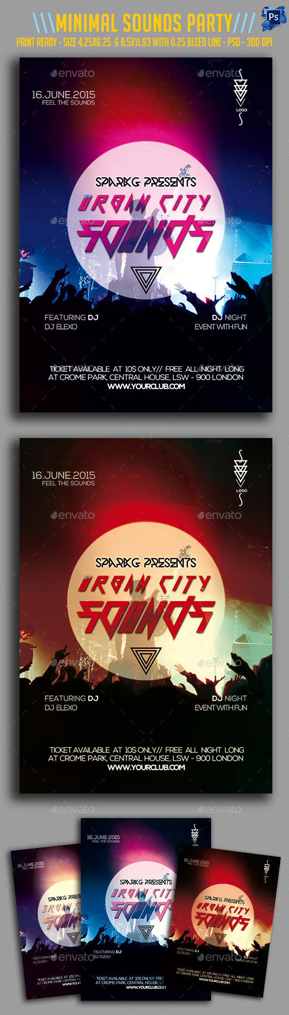 Urban City Sounds Party Flyer - Clubs & Parties Events