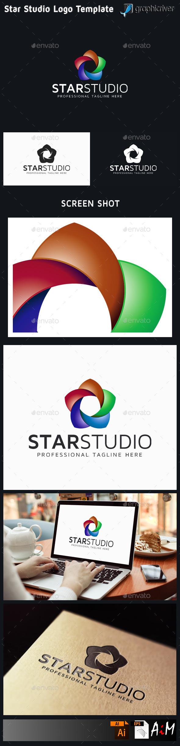 Star Studio Logo - 3d Abstract