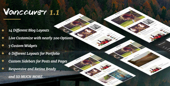 Vancouver – Multiple Layout WordPress Blog Theme