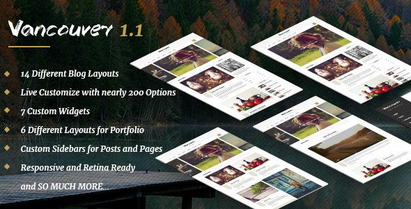 Vancouver – Multiple Layout WordPress Blog Theme