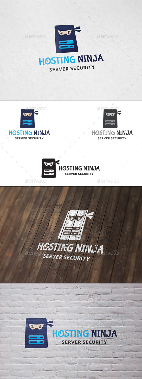 Hosting Ninja - Logo Template - Humans Logo Templates