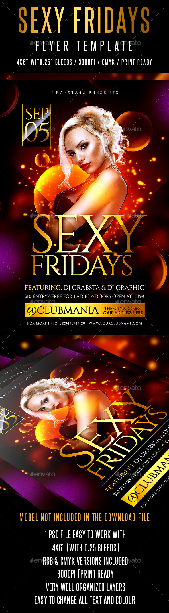 Sexy Fridays Flyer Template - Clubs & Parties Events