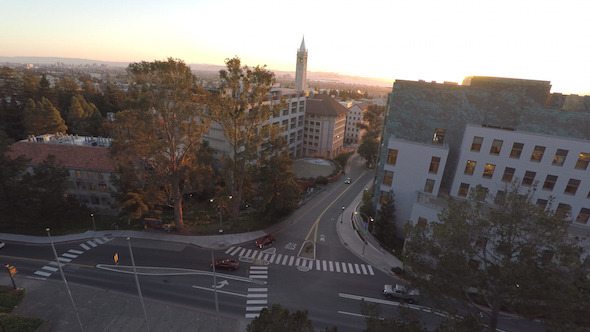 UC Berkeley Campus with the Campanile in the Background