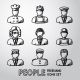 Set Of Hand Drawn People Faces - GraphicRiver Item for Sale