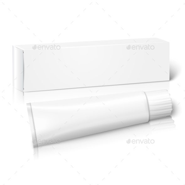 Blank Paper Package Box With Tube