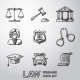 Law, Justice Freehand Icons Set. Vector - GraphicRiver Item for Sale