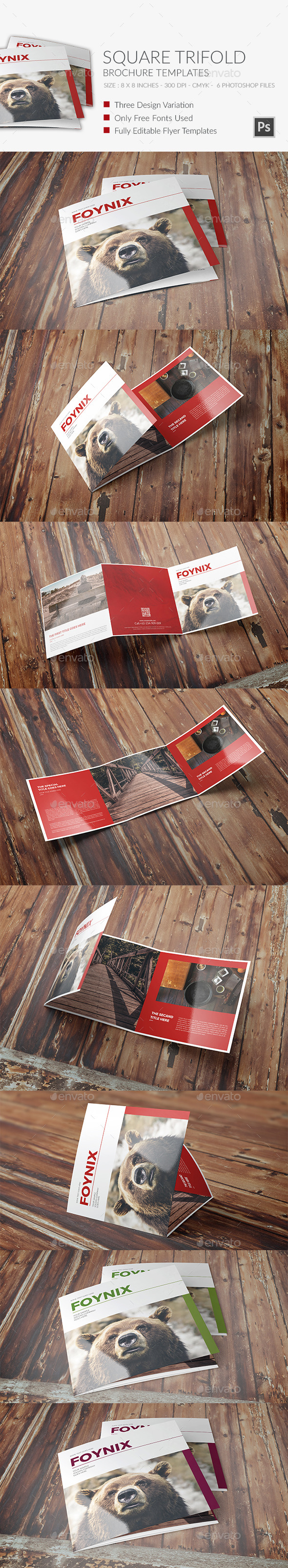 Square Trifold Brochure 6 - Brochures Print Templates