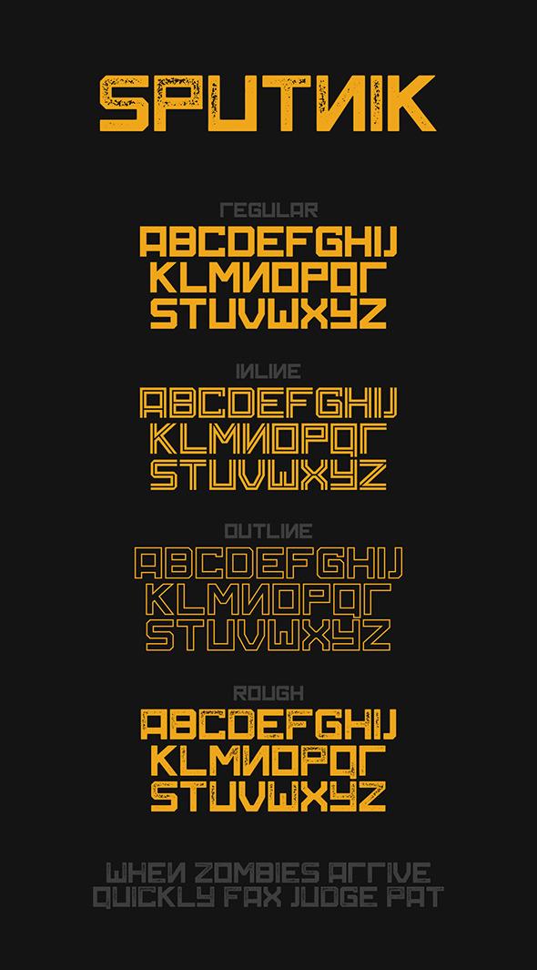 Sputnik Typeface - Fonts