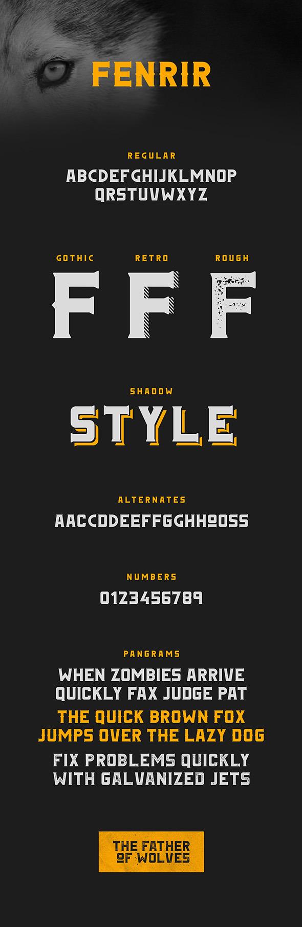 Fenrir Typeface - Fonts