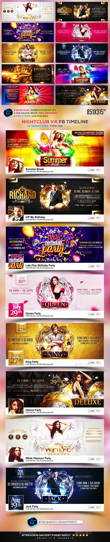 Nightclub V4 FB Timeline Cover - Facebook Timeline Covers Social Media