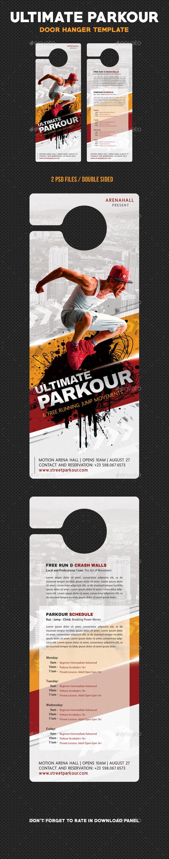 Ultimate Parkour Free Running Door Hanger - Miscellaneous Print Templates