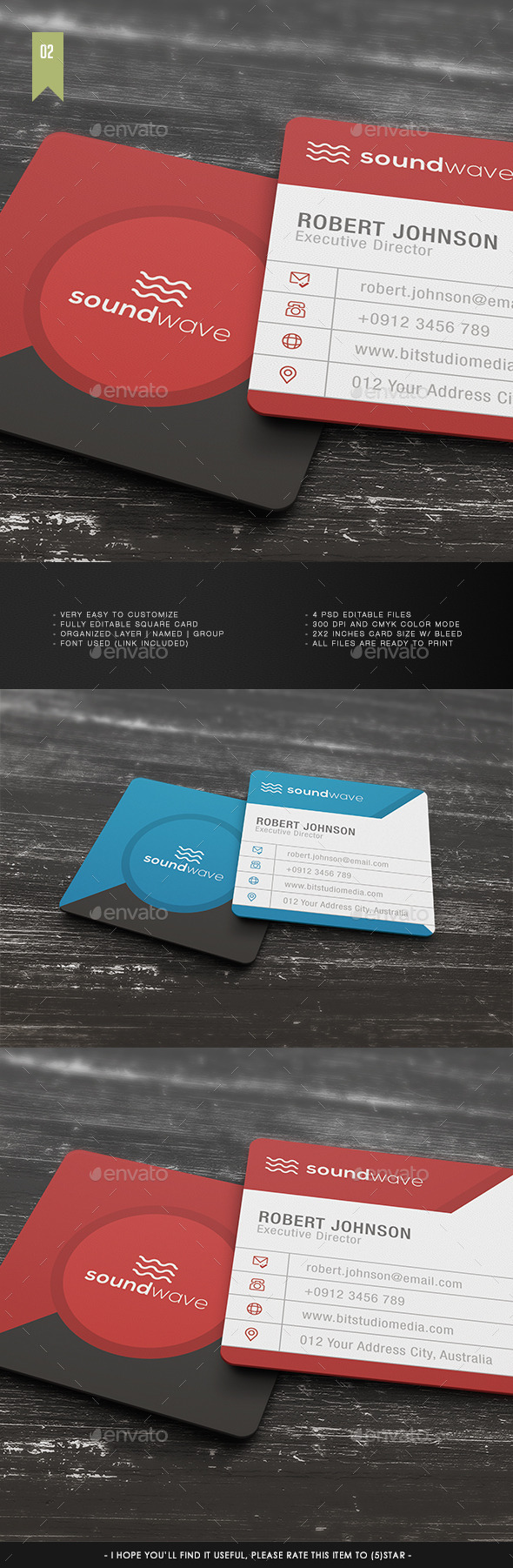 Square Business Card V.002 - Creative Business Cards