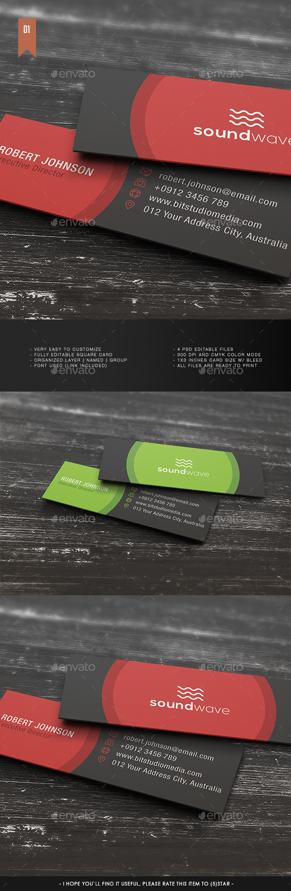 Micro Business Card V.001 - Corporate Business Cards