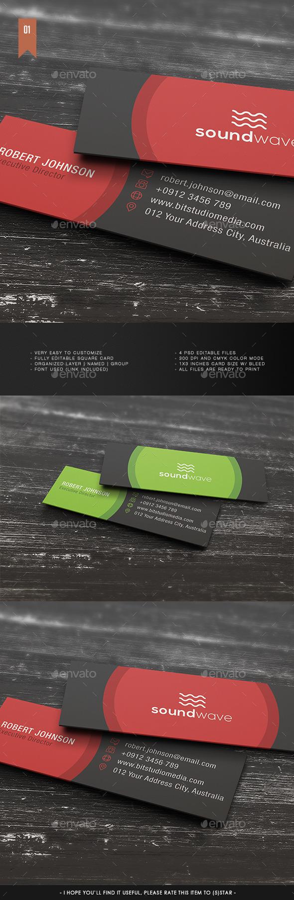 Micro Business Card V.001 by Teestrim | GraphicRiver