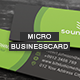 Micro Business Card V.001 - GraphicRiver Item for Sale