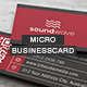 Micro Business Card V.002 - GraphicRiver Item for Sale