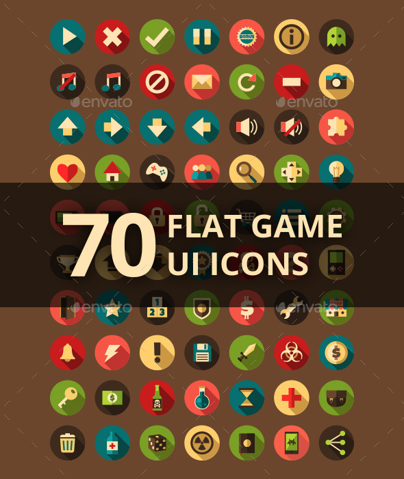 Flat UI game icons - Icons