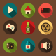 Flat UI game icons - GraphicRiver Item for Sale