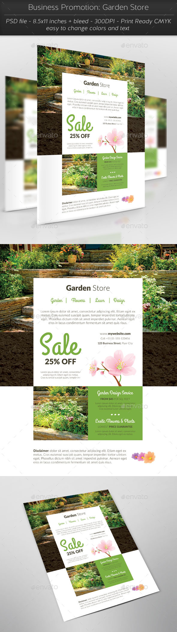 Business Promotion: Garden Store - Flyers Print Templates