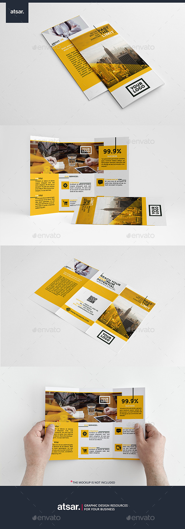 Clean Yellow Trifold - Corporate Brochures