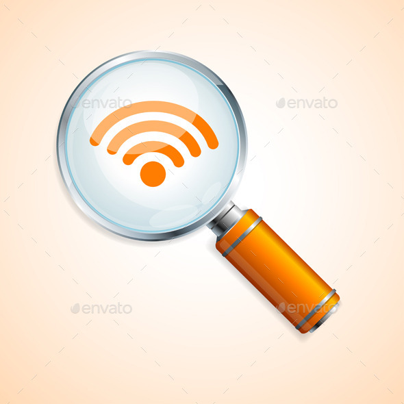 Wifi Search Concept Vector