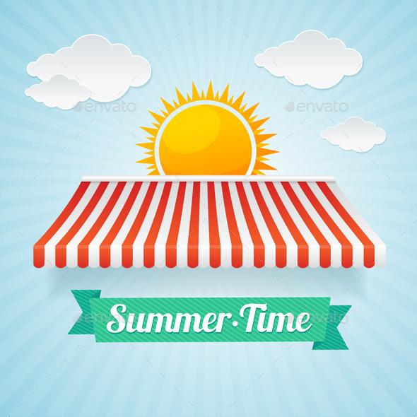 Summertime Card Vector - Conceptual Vectors