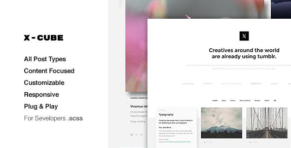 X-Cube Portfolio, Grid Based Tumblr Theme