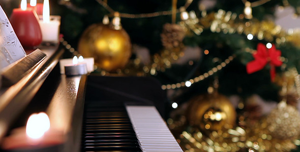 Piano Keyboard on Christmas
