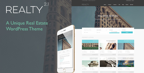 Realty – Unique Real Estate WordPress Theme