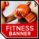 Fitness - Kickboxing Banner - GraphicRiver Item for Sale