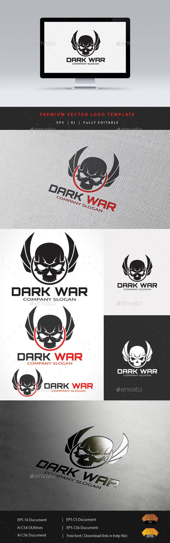 Dark War - Humans Logo Templates