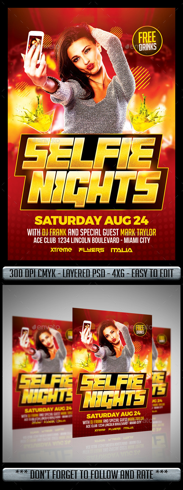 Selfie Party Flyer - Clubs & Parties Events