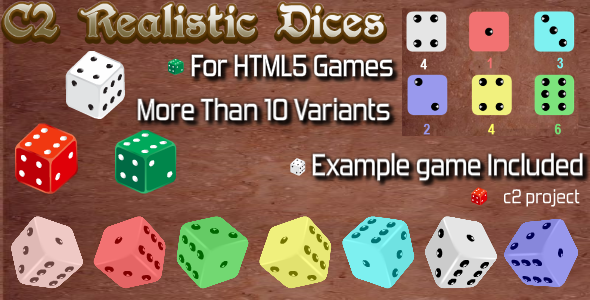 C2 Realistic Dices with a Free Game - CodeCanyon Item for Sale