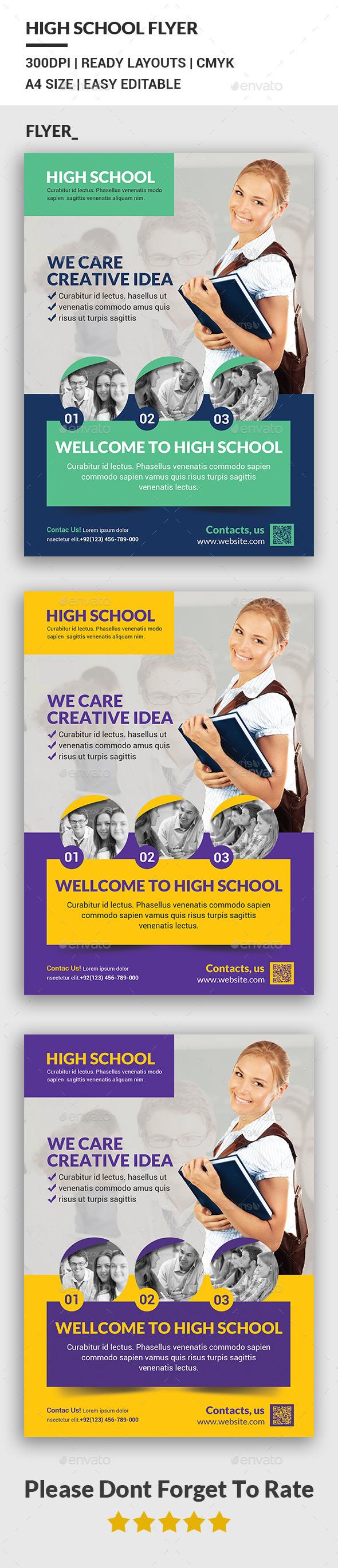 High School Flyer - Corporate Flyers